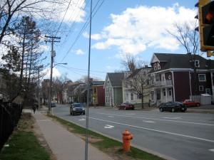 looking east along Morris Street